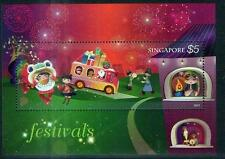 Singapore cover 2012 Festivals stamps $5 Collector Sheet Santa Claus Lion dance