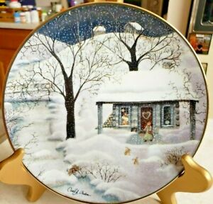"""Carol Endres Franklin Mint Collector Plate """"Moonlight Visitors"""" Limited Edition"""