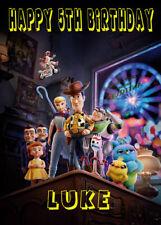 Personalised Toy Story 4 Birthday Card - Forky - Birthday Kids - Best On Ebay!