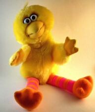 "BIG BIRD Sesame Street 16"" Plush Hand Puppet Jim Henson Applause Vintage Toy"