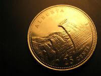 Canada 1992 Alberta Province Commemorative 25 Cent Mint Coin.