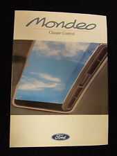 FORD MONDEO CLIMATE CONTROL SALES BROCHURE 1993 2 PAGES