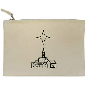 'Star Of Bethlehem' Canvas Clutch Bag / Accessory Case (CL00017036)
