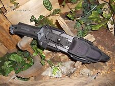 Machete/Bowie/Knife/Carbon steel/440SS/Full tang/Flint/Compass/Survival kit