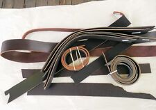 Harness Bridle LEATHER Straps BLACK BROWN Remnants Scraps WIDE Strips