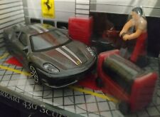 1/43 FERRARI 430 SCUDERIA GRIS ACCESORIOS RACE AND PLAY COCHE ESCALA DIE CAST