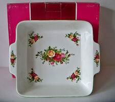 NEW Royal Albert Old Country Roses SQUARE BAKER / In Original Box / MSRP 72.00