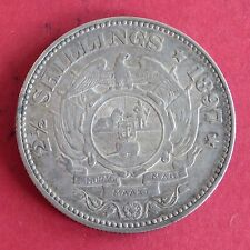 SOUTH AFRICA 1897 ZAR KRUGAR SILVER HALF CROWN