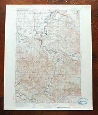 1937 Eatonville Washington Vintage USGS Topographic Map Graham Kapowsin Morton