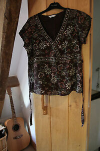 New Look Ladies brown shirt blouse size 12 sequin detail