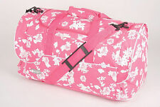 WOMEN LADIES OVERNIGHT MATERNITY HOLDALL HAND LUGGAGE CABIN FLIGHT BAG PINK NEW