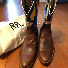 RRL RALPH LAUREN MEN BOOTS LEATHER BROWN MADE IN USA US8D WESTERN FASHION