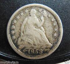 NICE ORIGINAL 1853 HALF DIME, CLASHED DIE OBVERSE
