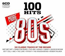 Various Artists - 100 hits-more 80's - Various Artists CD revg free shipping