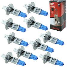 10x H1 Glühlampe Glühbirne 12V 55W P14.5s Xenon Look Super Weiss für PKW