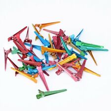 Salon 50pcs Colorful Styling Metal Aluminum Sectioning Clips Clamps Hair Grip