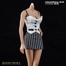 1:6 Scale Female Women Pink Vest/&White Pleated Skirt Set Clothes F 12/'/' Doll