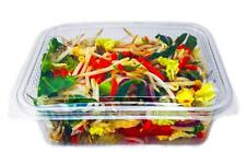 50 X 750cc CLEAR PLASTIC DISPOSABLE SALAD BOWLS CONTAINER WITH HINGED LIDS