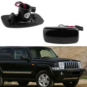 For Jeep Patriot Compass Grand Cherokee Smoke Lens LED Side Marker Signal Lights