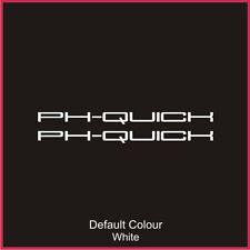 Clio Ph-Quick Sideskirt Decals x2, Clio, Vinyl, Sticker, Graphics,Car, N2061