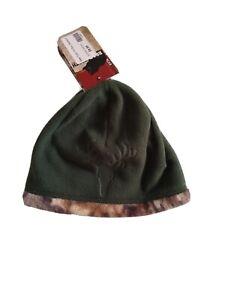 NWT Bear Tooth Realtree Reversibe YOUTH Green Fleece CAMO Beanie Cap HAT HUNTING