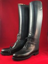 Men's Dehner Patrol Riding Boots 10.5 D Black Police Motorcycle Top Strap Laced