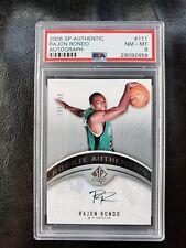2006 SP Authentic Rajon Rondo 198/999 Auto Rookie #111 PSA 8 Boston Celtics HOT