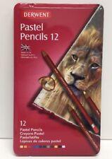 (New) Derwent 12 Pastel Pencil Metal Tin Set