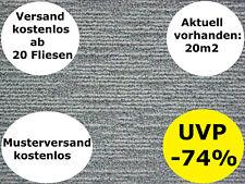 Teppichfliesen QUARZ GRAU NEU Allergiker B1 50x50 Schlinge 6mm 3,95€/Fliese