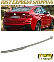 Unpaint P Type Rear Trunk Boot Spoiler Wing Lip Fit For BMW X4 F26 5D SUV 14-18