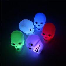 3D Crâne LED Éclairage Veilleuse Lumière Nuit Lampe Bureau Maison Halloween Déco