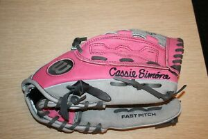 "WILSON 11 1/2"" A0440 FP115-GP  Leather Fast Pitch RHT Youth Baseball Glove Pink"