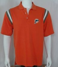 Miami Dolphin Polo with 1997-2012 Logo, Medium, M, Med, NFL, Reebok, Orange