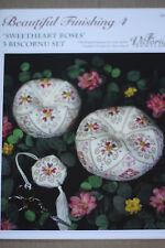 The Victoria Sampler - Sweetheart Roses Biscornu - Leaflet & Acc Pack Finishing