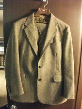 Levi's Men's Sportswear 3 piece Action Suit, Size 44R Brown 75% wool Vintage