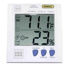 White 5-in H Wireless Digital Thermo-Hygrometer Weather Station with Sensor