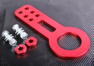 Tow Hook Ring JDM Red Aluminium Alloy Strap Ring Kit Front Rear Racing Turbo