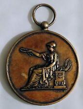 Médaille en argent vermeil grand concours musical de poitiers 1885 -Brenet -