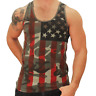 American Flag Camo Men's Tank Top 4th of July Stars and Stripes Patriotic USA