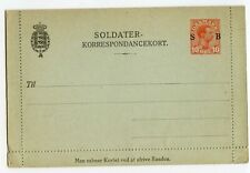 DENMARK LETTERCARD FOR MILITARY USE, 10 O, EDGES NOT STUCK, MINOR SOILING(A749)