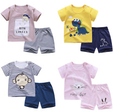 2020 short-sleeved suit summer cotton t-shirt children's clothing baby clothes