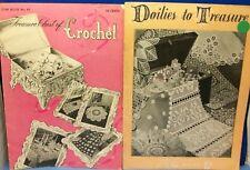 LOT of 2-Vintage Crochet Bookls-DOILIES TO TREASURE & TREASURE CHEST OF CROCHET