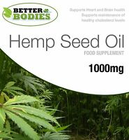 Hempseed Oil 1000mg Omega 3 6 9 Tocopherol 60 / 120 / 180 Soft gels