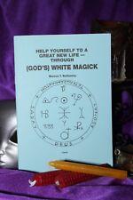 GOD'S WHITE MAGICK Finbarr Book Occult  Black Magic Grimoire Witchcraft