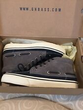 BASS CREW SNEAKER  NAVY MULTI in Suede NEW Size 7.5