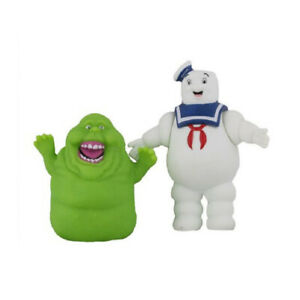 Ghostbusters Marshmallow Man Slimer Green Ghost 2PCS Action Figure Kids Toy Gift