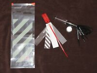 """Nike x Off-White ZIP TIE TAG and black shoelaces with original bag """"the ten"""" NEW"""