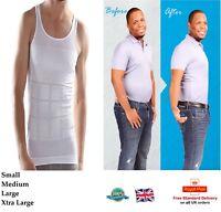 MEN SLIMMING VEST Chest Belly Shaper Slim Waist Body Slimmer Compression Shirt