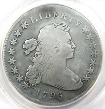 1796 Draped Bust Small Eagle Silver Dollar $1 - ANACS VG8 Detail - Rare Coin!