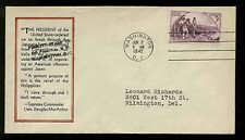 904 KENTUCKY 2nd DAY WASHINGTON, DC FIDELITY WW2 PATROITIC COVER SERMAN #7699